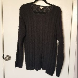 [2 for $10] Sonoma black knit oversized sweater